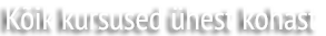Juuksurite hinnakiri - Kõik kursused ühest kohast